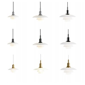 Louis Poulsen, Large Glass Pendant Light by Poul Henningsen